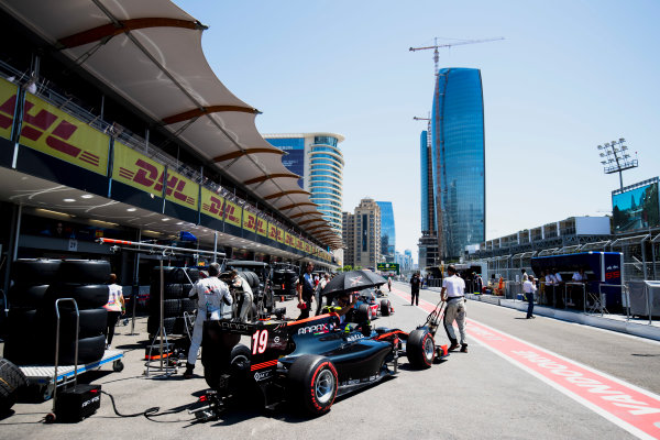 2017 FIA Formula 2 Round 4. Baku City Circuit, Baku, Azerbaijan. Saturday 24 June 2017. Johnny Cecotto Jr. (VEN, Rapax)  Photo: Zak Mauger/FIA Formula 2. ref: Digital Image _54I1054