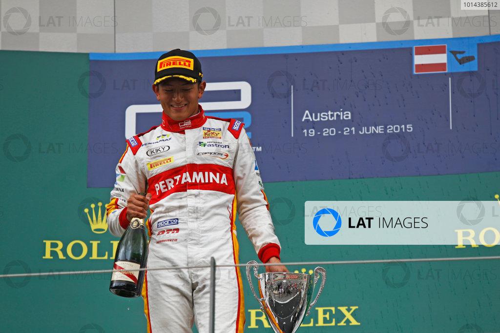 2015 GP2 Series Round 4. Red Bull Ring, Spielberg, Austria. Sunday 21 June 2015. Rio Haryanto (INA, Campos Racing)  Photo:  Sam Bloxham/GP2 Media Service ref: Digital Image _G7C6570