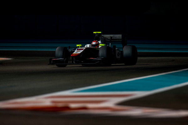 2016 GP2 Series Test 3 Yas Marina Circuit, Abu Dhabi, United Arab Emirates. Friday 2 December 2016. Nabil Jeffri (MAS, Trident)  Photo: Zak Mauger/GP2 Series Media Service. ref: Digital Image _L0U4808