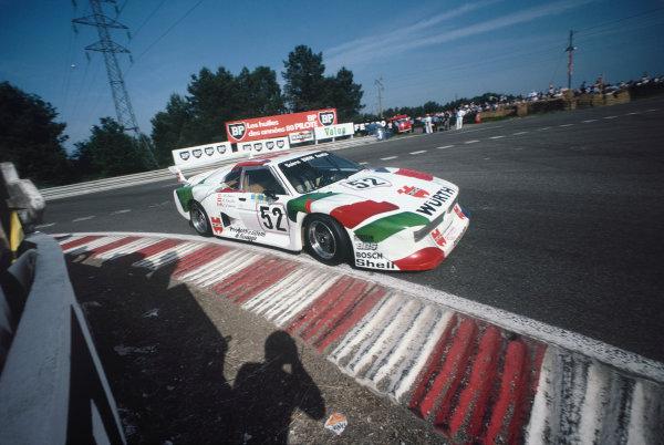 1981 Le Mans 24 Hours. Le Mans, France. 13th - 14th June 1981. Dieter Quester / Marc Surer / David Deacon (BMW M1 Sauber), retired, action.  World Copyright: LAT Photographic. Ref: 81LM31.