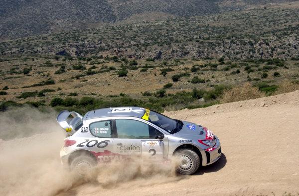 2001 World Rally Championship.Acropolis Rally June 14-17, 2001.Didier Auriol during the shakedown.Photo: Ralph Hardwick/LAT