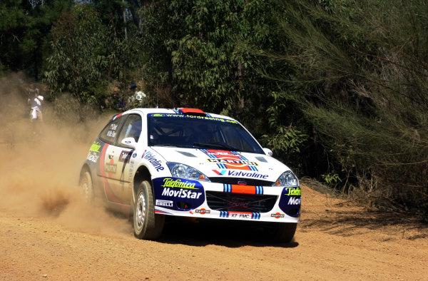 2001 World Rally ChampionshipTelstra Rally Australia, Perth, WA. 1-4 November 2001.Colin McRae during shakedown.Photo: Ralph Hardwick/LAT