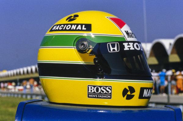 Ayrton Senna's helmet.