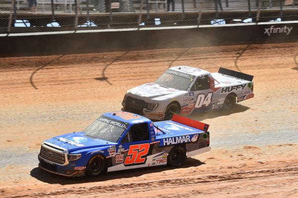 #52: Stewart Friesen, Halmar Friesen Racing, Toyota Tundra Halmar International, #04: Chase Briscoe, Roper Racing, Ford F-150 TexaCon Cut Stone/Huffy