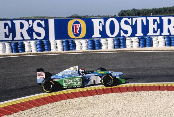 1994 Portuguese Grand Prix.Estoril, Portugal. 23-25 September 1994.Jos Verstappen (Benetton B194 Ford) 5th position.Ref-94 POR 16.World Copyright - LAT Photographic