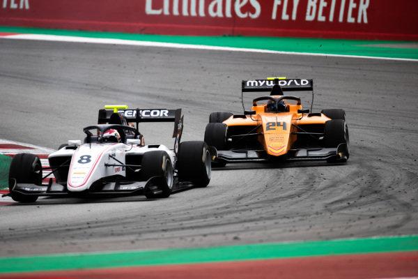 Alessio Deledda (ITA, Campos Racing) and Fabio Scherer (CHE, Sauber Junior Team by Charouz)