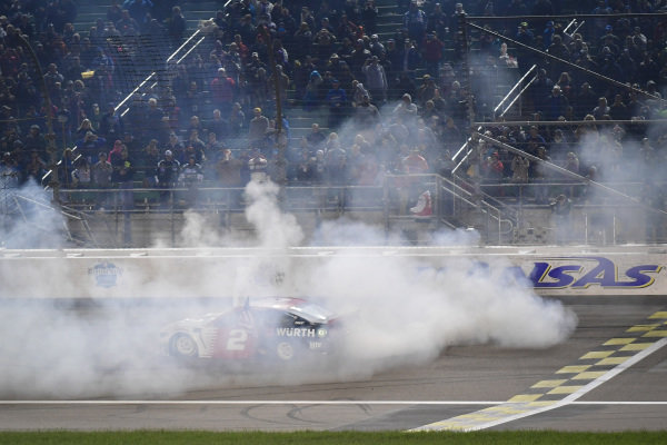 #2: Brad Keselowski, Team Penske, Ford Mustang Wurth victory celebration
