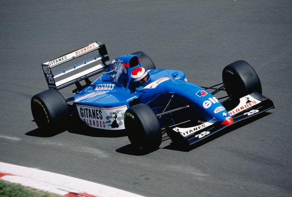 1994 Italian Grand Prix.Monza, Italy. 9-11 September 1994.Eric Bernard (Ligier JS39B Renault) 7th position.Ref-94 ITA 24.World Copyright - LAT Photographic