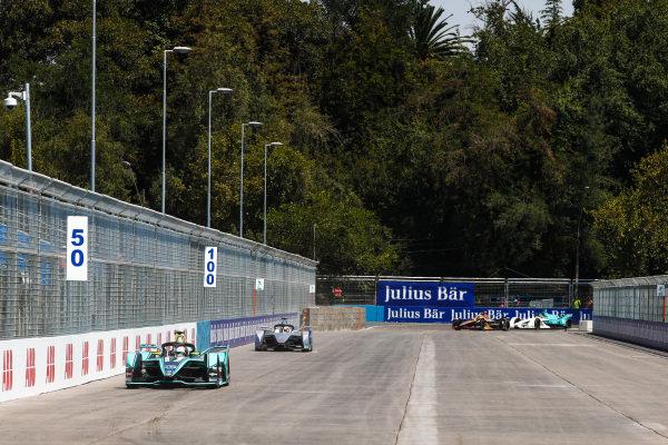 Nelson Piquet Jr. (BRA), Panasonic Jaguar Racing, Jaguar I-Type 3 leads Edoardo Mortara (CHE) Venturi Formula E, Venturi VFE05