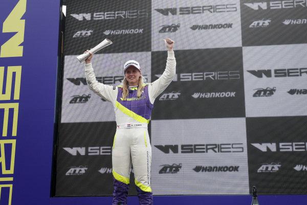 Beitske Visser (NLD) celebrates on the podium
