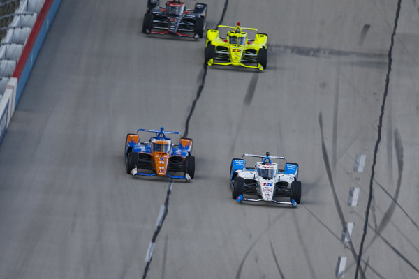 #15: Graham Rahal, Rahal Letterman Lanigan Racing Honda, #9: Scott Dixon, Chip Ganassi Racing Honda