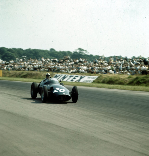 1958 British Grand Prix.Silverstone, England.17-19 July 1958.Harry Schell (BRM P25) 5th position.Ref-3/0093.World Copyright - LAT Photographic