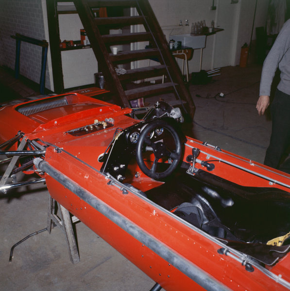 1970 Formula 1 Testing. Silverstone, England. A March 701 in a garage during testing before the season starts. World Copyright: LAT Photographic. Ref:  70MF F1 Misc 02.