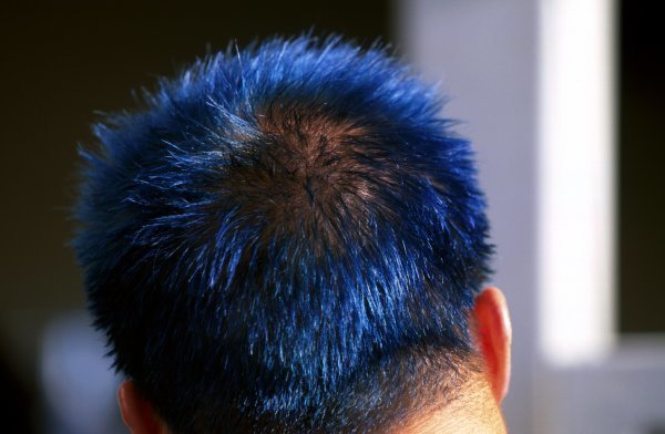Mika Salo (FIN) Toyota died his hair blue for what is expected to be his final GP.