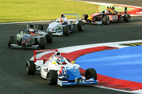 Race winner Jack Harvey (GBR) Fortec Motorsports. Formula BMW Europe, Rds 12 & 13, Monza, Italy, 10-12 September 2010.