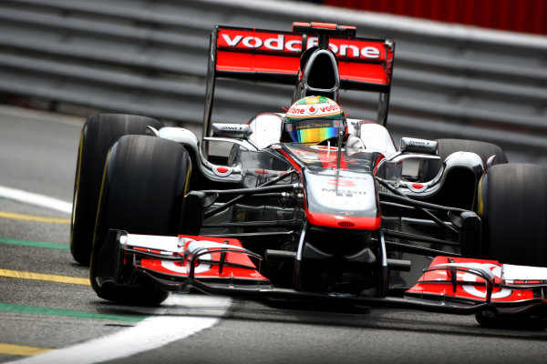 Interlagos, Sao Paulo, Brazil26th November 2011Lewis Hamilton, McLaren MP4-26 Mercedes. Action. World Copyright: Andy Hone/LAT Photographicref: Digital Image CSP28969