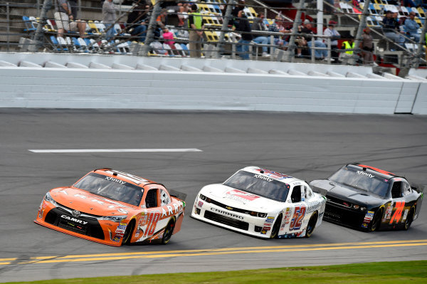20-21 February, 2015, Daytona Beach, Florida USA Daniel Suarez, Arris Toyota Camry and Joey Gase ? 2015, Nigel Kinrade LAT Photo USA