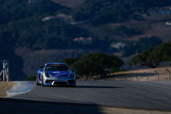 IMSA Continental Tire SportsCar Challenge Mazda Raceway Laguna Seca 240 Mazda Raceway Laguna Seca Monterey, CA USA Friday 22 September 2017 35, Porsche, Porsche Cayman GT4, GS, Russell Ward, Damien Faulkner World Copyright: Jake Galstad LAT Images