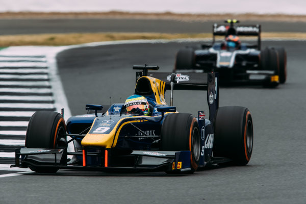 2017 FIA Formula 2 Round 6. Silverstone, Northamptonshire, UK. Sunday 16 July 2017. Oliver Rowland (GBR, DAMS).  Photo: Malcolm Griffiths/FIA Formula 2. ref: Digital Image MALC7510