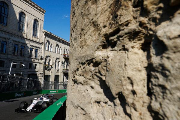 Baku City Circuit, Baku, Azerbaijan. Friday 23 June 2017. Lance Stroll, Williams FW40 Mercedes.  World Copyright: Steven Tee/LAT Images ref: Digital Image _R3I2407