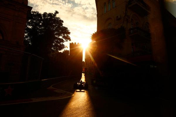 Baku City Circuit, Baku, Azerbaijan. Friday 23 June 2017. Romain Grosjean, Haas VF-17. World Copyright: Andrew Hone/LAT Images ref: Digital Image _ONZ6646