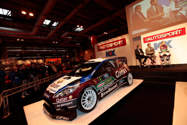 Autosport International Show NEC, Birmingham.  Thursday 10th January 2013. The new Ford Fiesta Rally Car is unveiled. World Copyright:Alastair Staley/LAT Photographic ref: Digital Image _MG_0776