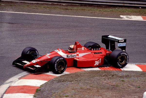 1988 Belgian Grand Prix.Spa-Francorchamps, Belgium. 26-28 August 1988.Alex Caffi (Scuderia Italia/Dallara 188 Ford) 8th position.Ref-88 BEL 26.World Copyright - LAT Photographic