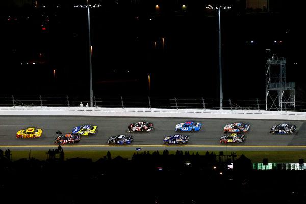 18 February, 2016, Daytona Beach, Florida USA Joey Logano, Denny Hamlin, FedEx Express Toyota Camry and Paul Menard ?2016, Russell LaBounty LAT Photo USA