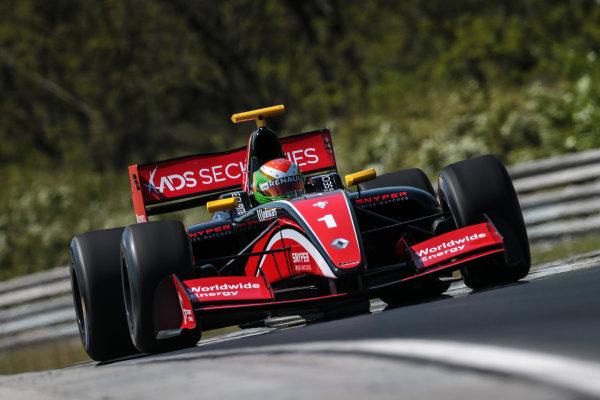BUDAPEST (HUN) APR 22-24 2016 - Second round of the Formula V8 3.5 at the Hungaroring. Louis Deletraz #1 Fortec Motorsports. Action. © 2016 Diederik van der Laan  / Dutch Photo Agency / LAT Photographic