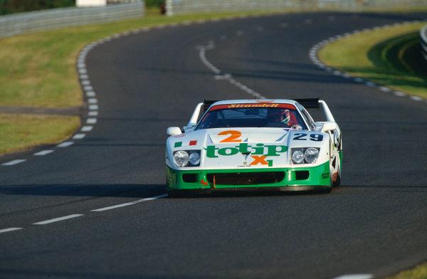 1994 Le Mans 24 Hours. Le Mans, France. 18th - 19th June 1994. Anders Olofsson / Sandro Angelastri / Luciano Della Noce (Ferrari F40), retired, action.  World Copyright: LAT Photographic.  Ref:  94LMff