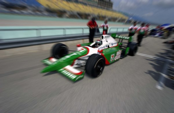 2003 IRL IndyCar Homestead, 2/28-3/2,2003, Homestead-Miami Speedway, USA Michael Andretti leaves the grid to become the first qualifier of the new IndyCar season.World Copyright-F Peirce Williams 2003 LAT Photographicref: Digital Image Only