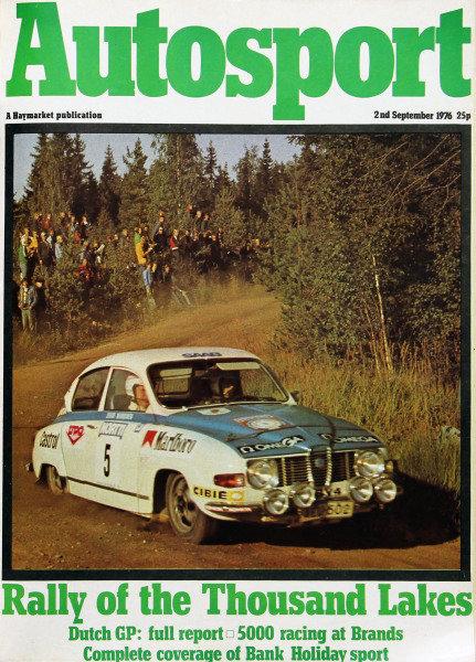 Cover of Autosport magazine, 2nd September 1976
