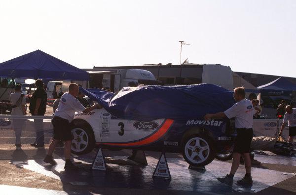 2001 FIA World Rally ChampsRallye de France, Ajaccio, Corsica, 18th-21st October 2001.Retired Ford Focus.World Copyright: LAT Photographic/McKlein.ref: 35mm Image A18