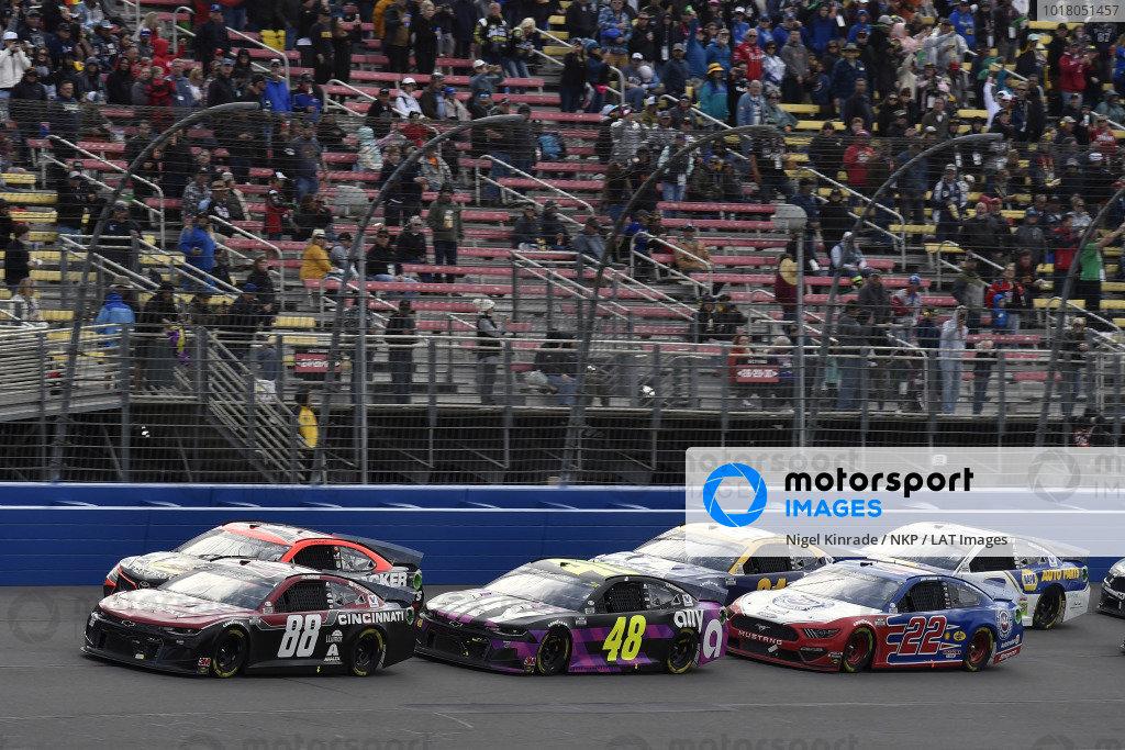 #88: Alex Bowman, Hendrick Motorsports, Chevrolet Camaro Cincinnati and #48: Jimmie Johnson, Hendrick Motorsports, Chevrolet Camaro Ally