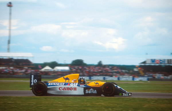 1993 British Grand Prix.Silverstone, England.9-11 July 1993.Damon Hill (Williams FW15C Renault). He exited the race after his engine expired.Ref-93 GB 15.World Copyright - LAT Photographic