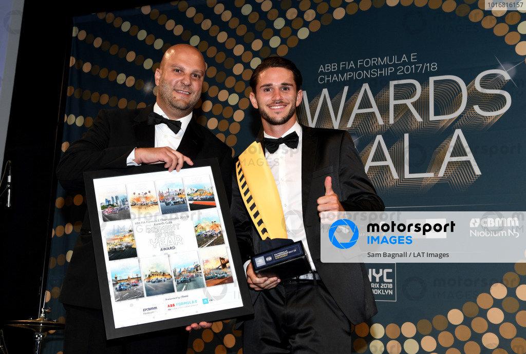 Daniel Abt (GER), Audi Sport ABT Schaeffler, Audi e-tron FE04, moment of the year at the Awards Gala.