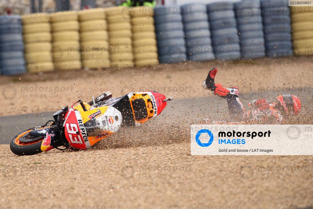 Marc Marquez, Repsol Honda Team crash.