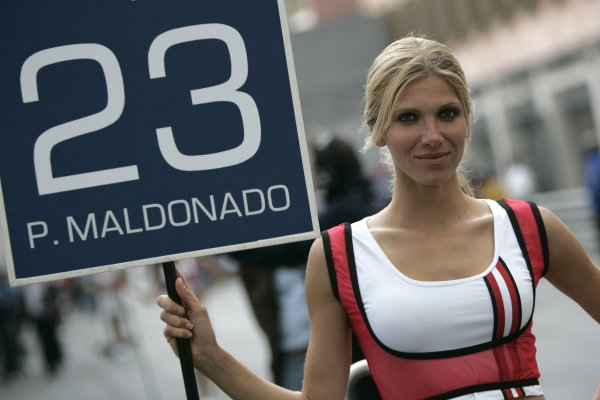 2008 GP2 Series. Round 3. Saturday Race. Monte-Carlo, Monaco. 24th May 2008.Grid Girl. Atmosphere. World Copyright: Alastair Staley/GP2 Series Media Service.ref:__MG_1599 jpg