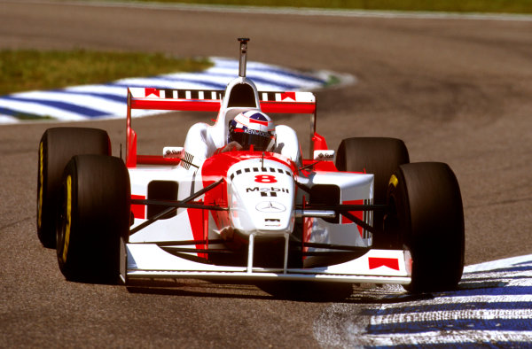 Hockenheim, German.26-28 July 1996.David Coulthard (McLaren MP4/11B Mercedes) 5th position.Ref-96 GER 25.World Copyright - LAT Photographic
