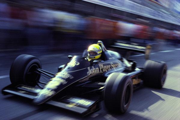 Ayrton Senna, Lotus 98T Renault.