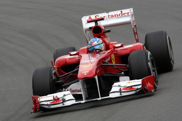 Fernando Alonso (ESP) Ferrari 150 Italia. Formula One World Championship, Rd 10, German Grand Prix, Practice Day, Nurburgring, Germany, Friday 22 July 2011.  BEST IMAGE