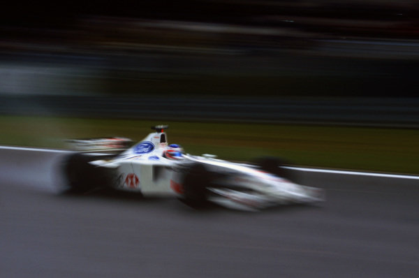 Nurburgring, Germany. 24th - 26th September 1999.Rubens Barrichello (Stewart SF3 Ford) 3rd position, action. World Copyright: LAT Photographic.Ref: Colour Transparency.