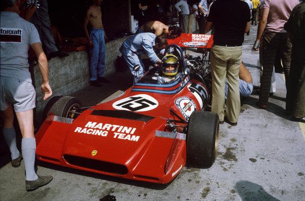 1972 Austrian Grand Prix.  Osterreichring, Zeltweg, Austria. 11-13th August 1972.  Nanni Galli, Tecno PA123.  Ref: 72AUT76. World Copyright: LAT Photographic