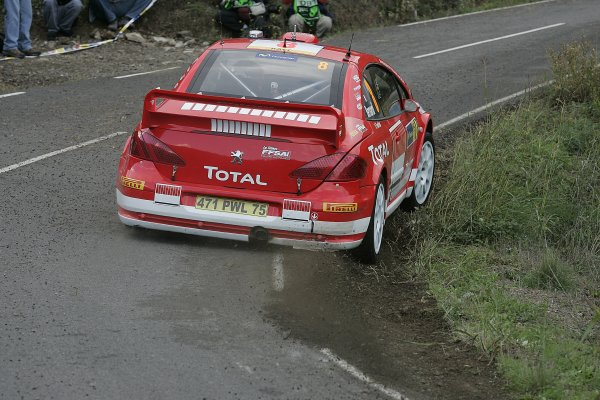 2005 FIA World Rally Champs. Round fifteenRally RACC Catalunya - Costa Durada.27th-30th  October 2005.Nicolas Bernardi, Peugeot, action.World Copyright: McKlein/LAT