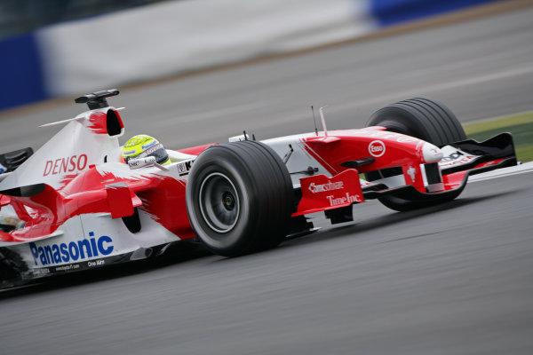 2005 British Grand Prix - Friday Practice,Silverstone, England. 8th July 2005 Ralf Schumacher, Toyota TF105, action World Copyright: Steve Etherington/LAT Photographic ref: 48mb Hi Res Digital Image