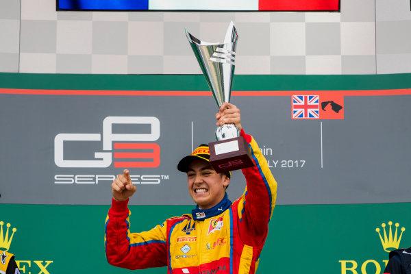 2017 GP3 Series Round 3.  Silverstone, Northamptonshire, UK. Sunday 16 July 2017. Giuliano Alesi (FRA, Trident).  Photo: Zak Mauger/GP3 Series Media Service. ref: Digital Image _56I0199