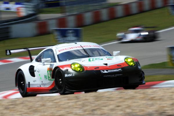 2017 World Endurance Championship, Nurburgring, Germany. 14th-16th July 2017 #92 Porsche GT Team Porsche 911 RSR: Michael Christensen, Kevin Estre World copyright. JEP/LAT Images