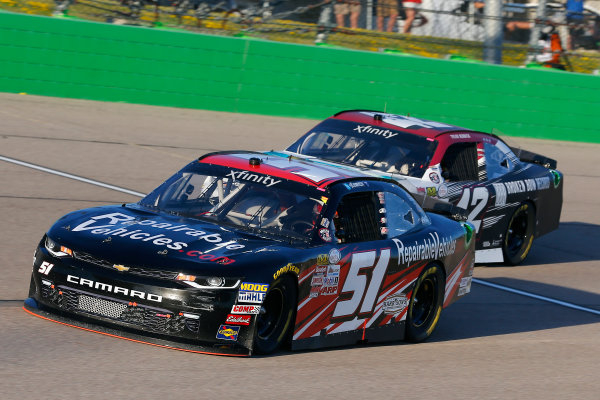 NASCAR XFINITY Series American Ethanol E15 250 presented by Enogen Iowa Speedway, Newton, IA USA Saturday 24 June 2017 Jeremy Clements, RepairableVehicles.com Chevrolet Camaro and Tyler Reddick, BBR / Jason Aldean Chevrolet Camaro World Copyright: Russell LaBounty LAT Images