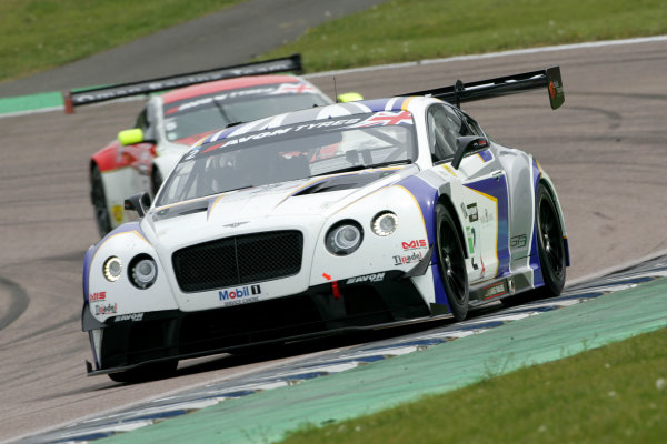 2014 Avon Tyres British GT Championship, Rockingham Motor Speedway, Northamptonshire. 4th - 5th May 2014.  Steve Tandy / James Appleby Generation Bentley Racing Bentley Continental GT3. World Copyright: Ebrey / LAT Photographic.