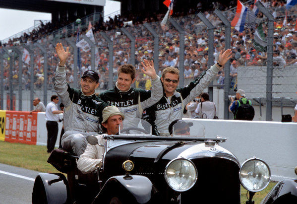 Le Mans, France. 14th - 15th June 2003.The winning Bentley drivers: Kristensen, Capello and Smith.World Copyright: Jeff Bloxham/LAT Photographic.Ref:  03LM23.
